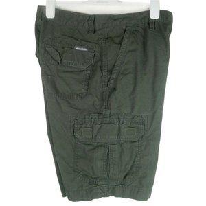 Eddie Bauer Mens Cargo Shorts Size 30 Hunter Green